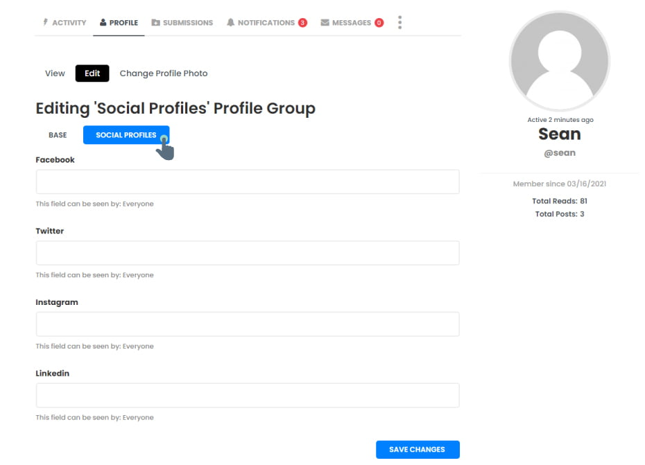 How to Add/Edit Your Profile Info (Name, Bio, & Social Media Links)